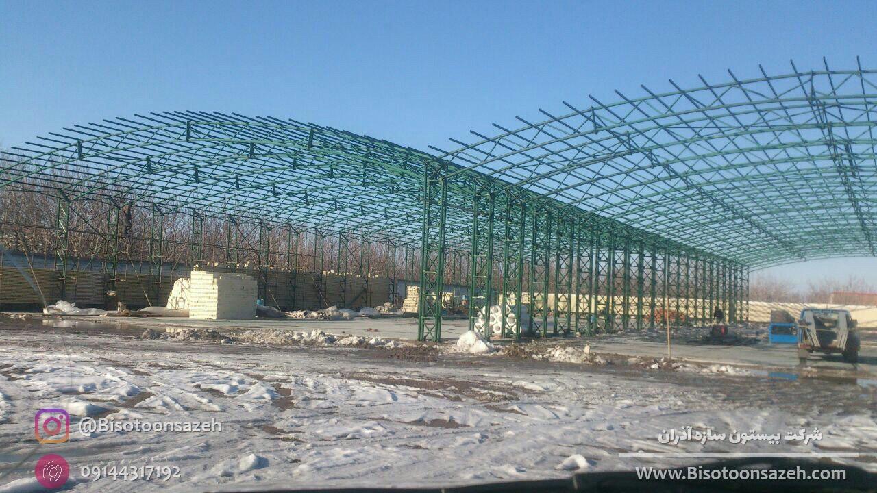 industrial shed 1 - آشنایی کامل با سوله و انواع مختلف آن | سوله سبک بیستون