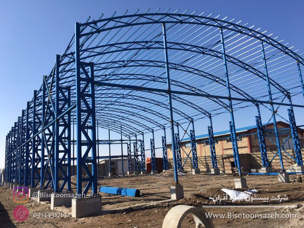 industrial shed 13 1024x768 - گالری پروژه های نصب شده سوله سبک | سوله سبک بیستون