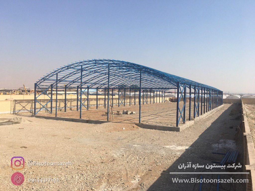 industrial shed 14 1024x768 - گالری پروژه های نصب شده سوله سبک | سوله سبک بیستون