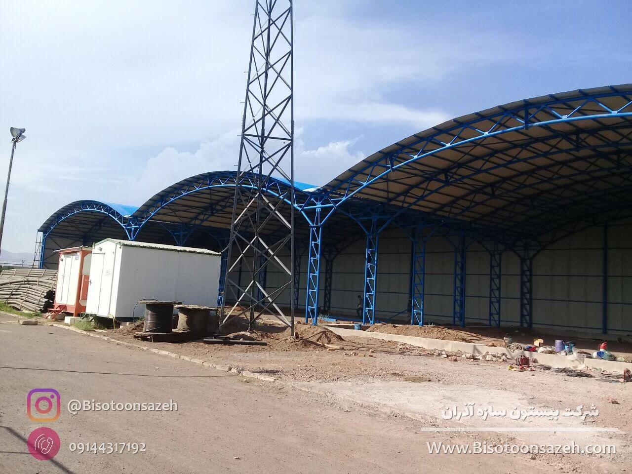 industrial shed 15 - آشنایی کامل با سوله و انواع مختلف آن | سوله سبک بیستون
