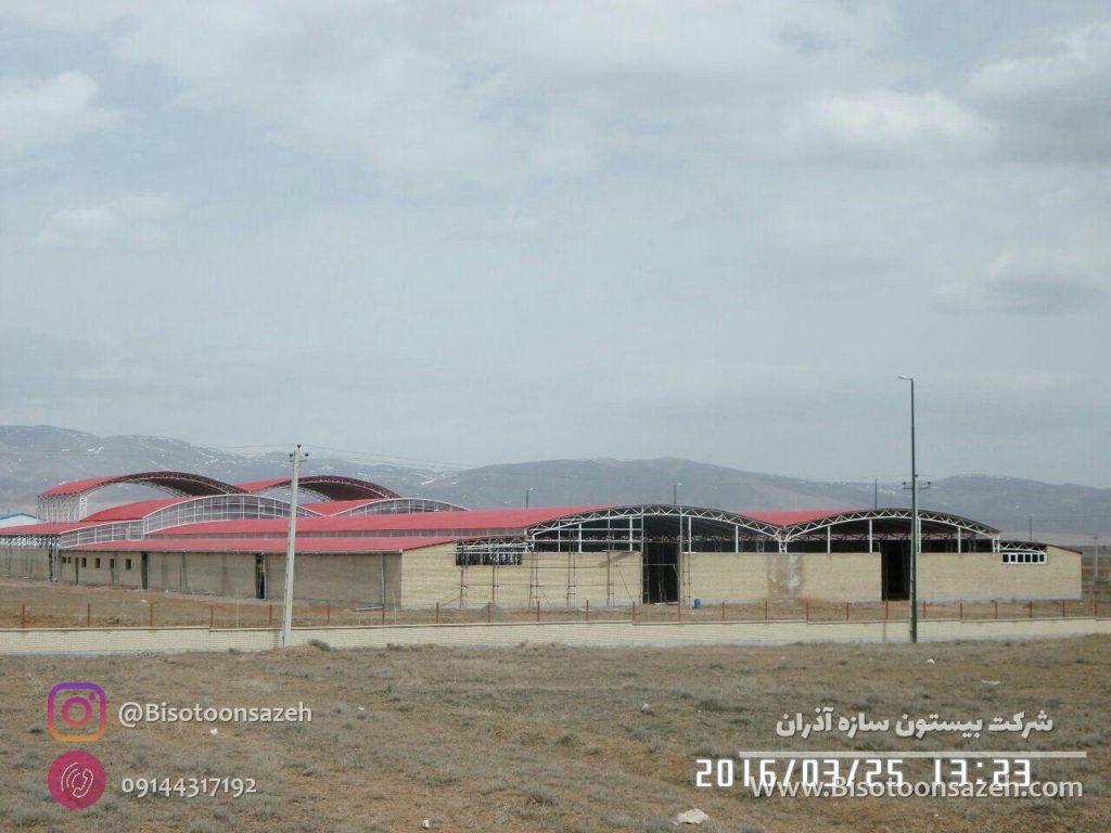 industrial shed 3 1024x768 - گالری پروژه های نصب شده سوله سبک | سوله سبک بیستون