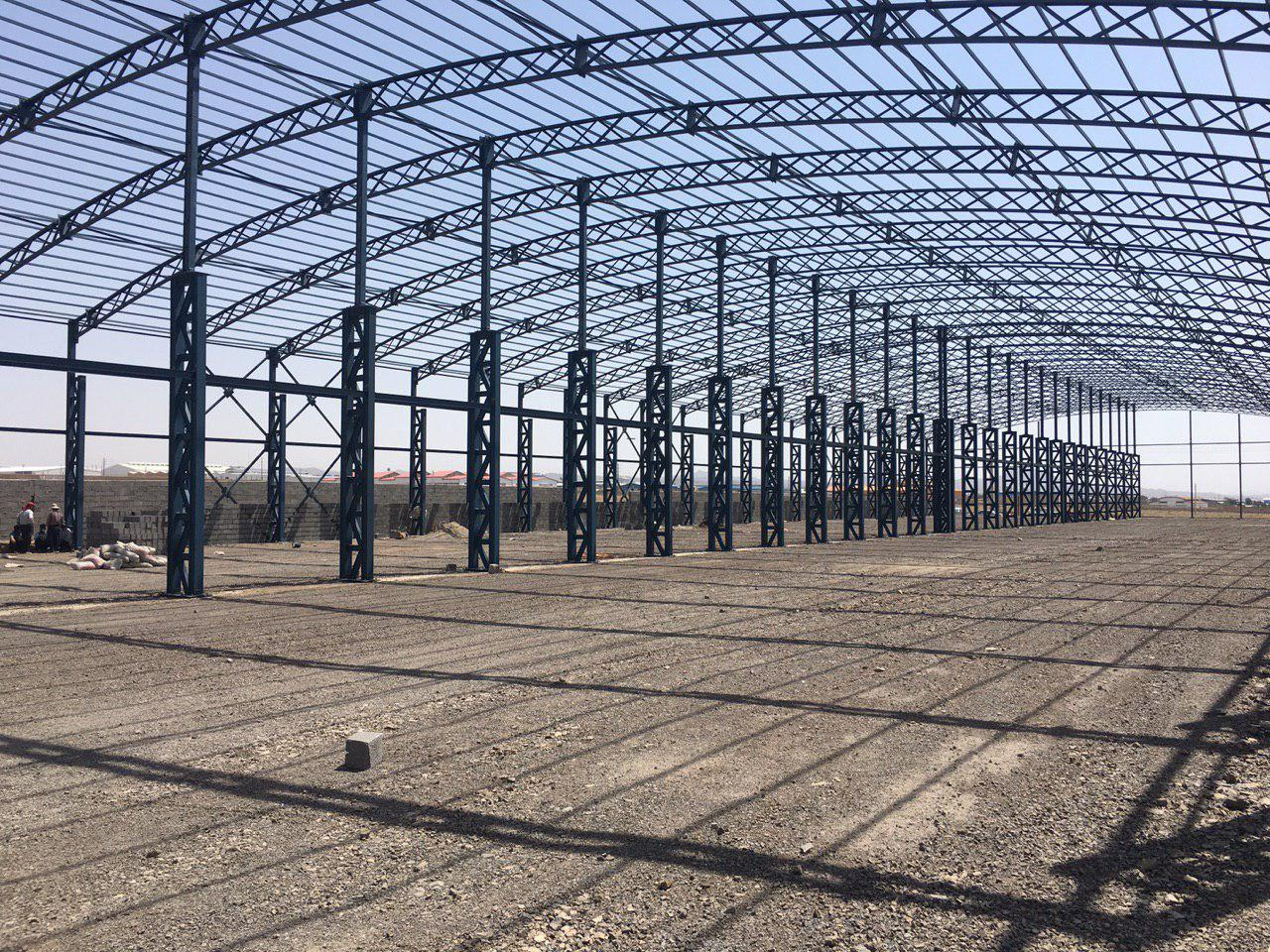 industrial shed 31 - آشنایی کامل با سوله و انواع مختلف آن | سوله سبک بیستون