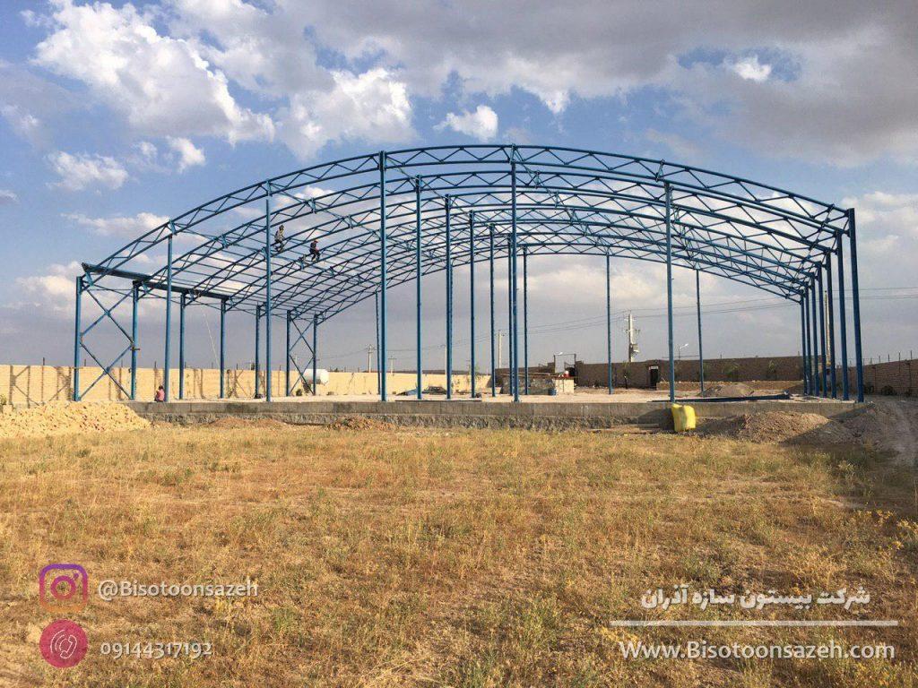 industrial shed 5 1024x768 - گالری پروژه های نصب شده سوله سبک | سوله سبک بیستون