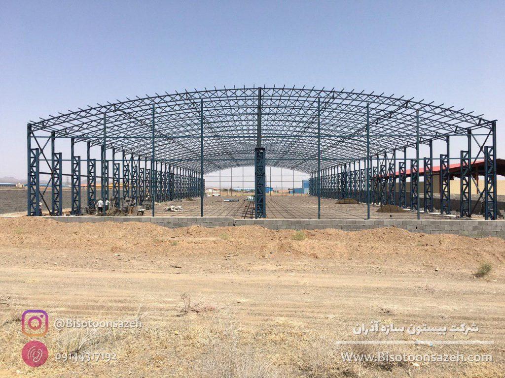 industrial shed 6 1024x768 - گالری پروژه های نصب شده سوله سبک | سوله سبک بیستون