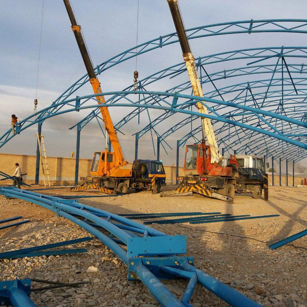 industrial shed 62 1024x1024 - پروژه های اجرایی سوله توسط شرکت | سوله سبک بیستون
