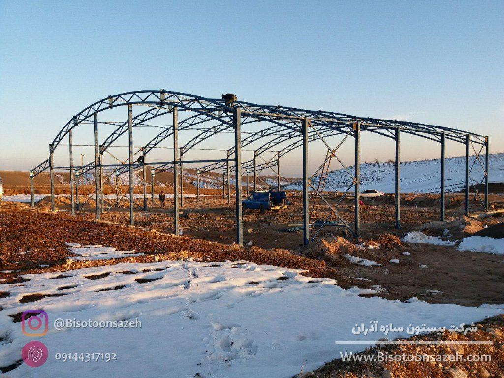 industrial shed 8 1024x768 - گالری پروژه های نصب شده سوله سبک | سوله سبک بیستون